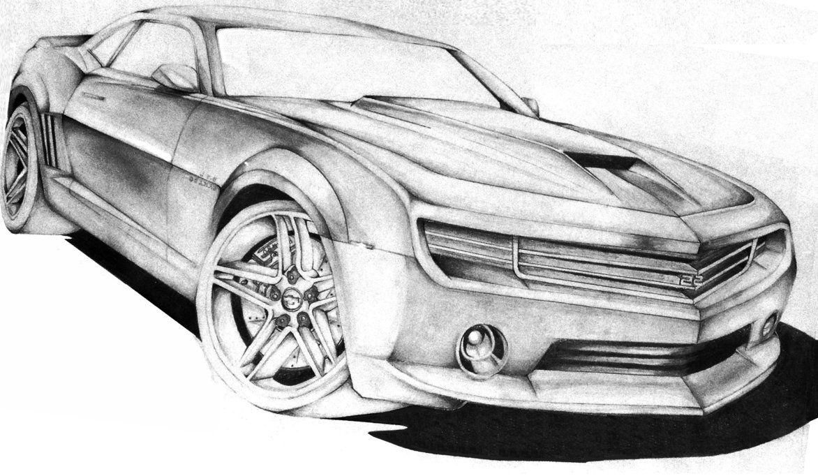 Muscle Monster Car Cartoon Art | Camaro Sketch by FrancoisSmit on ...