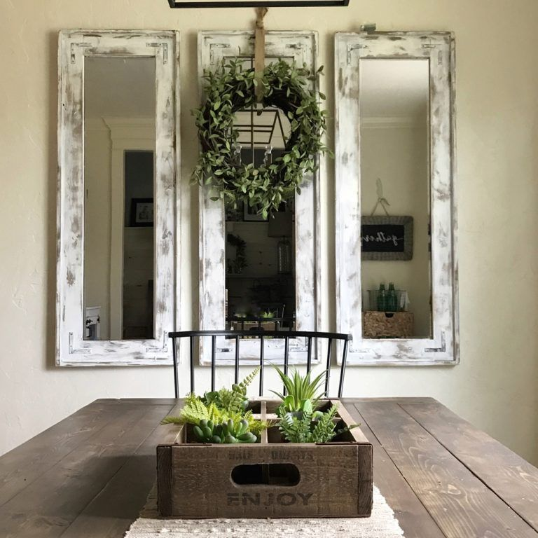 Whitney S Dining Room Tour Rustic Dining Room Wall Decor Dining Room Mirror Decor Mirror Dining Room