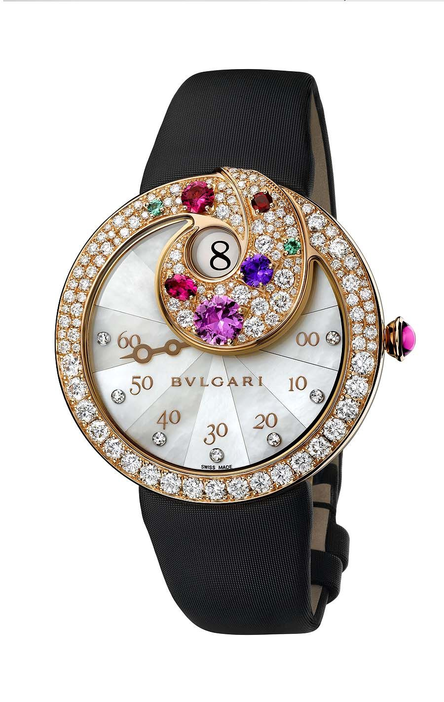 Bulgari Jumping Hour Retrograde Minutes jewellery watch, shortlisted for the Jewellery Watch award.