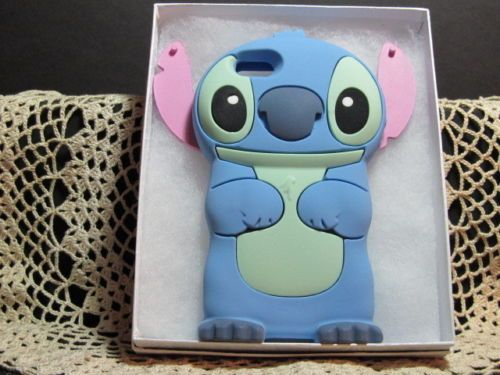 IPhone 5 5S 5C 3D Disney 'Stitch' Soft Silicone Character ...  IPhone 5 5S 5C ...