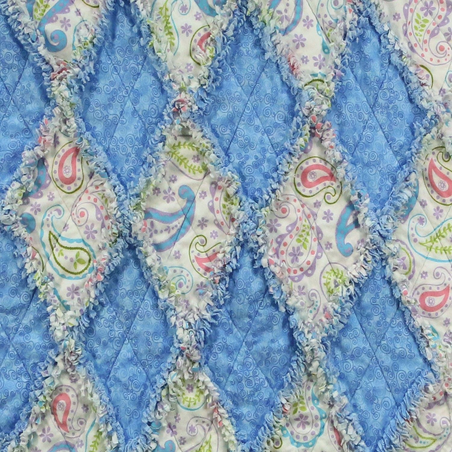 The Studio Rag Diamond Lap Quilt Pattern gives you step-by-step ... : rag quilt patterns instructions - Adamdwight.com