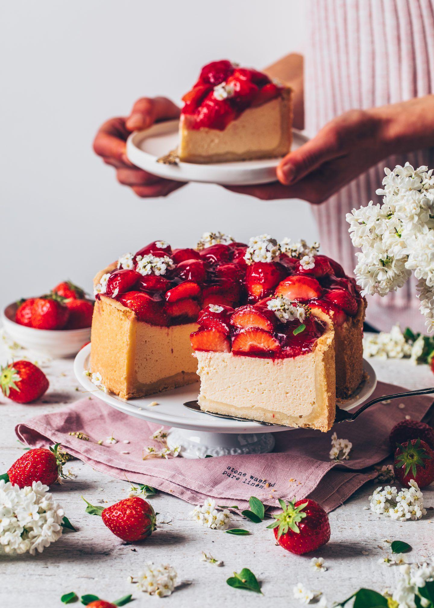 Best vegan cheesecake with strawberries bianca zapatka
