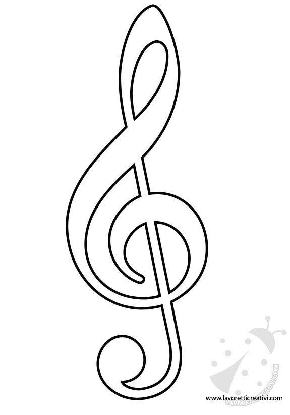 Pin De Marcia Mitleton Em Aquarela Moldes De Notas Musicais