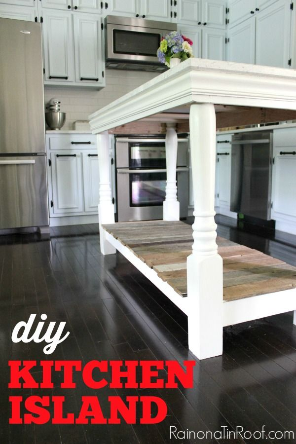 DIY Kitchen Island with salvaged wood | Isla cocina, Carpinteria y ...