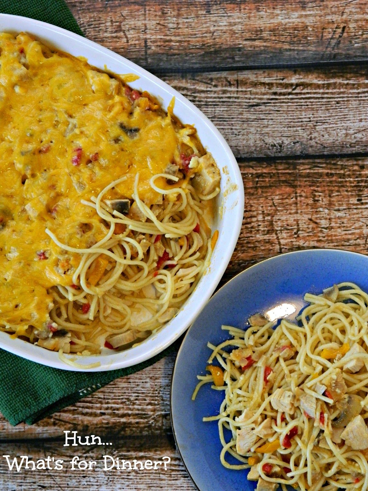 Pioneer Woman's Chicken Spaghetti   Yummy chicken recipes. Poultry recipes. Chicken spaghetti
