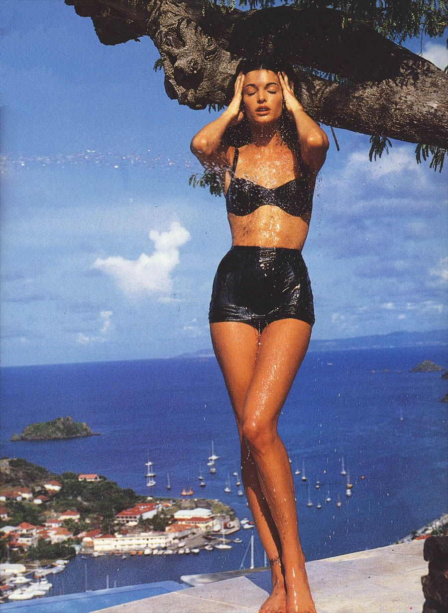 patrick de elier stephanie seymour vogue italia stephanie seymour patrick de elier for vogue italia more of our fav bikini x beach babe moments of all time through the link in bio 128089128089128089128165