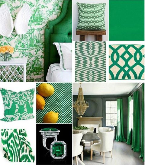 A Few Ideas On How To Incorporate Emerald Green The Colour Of