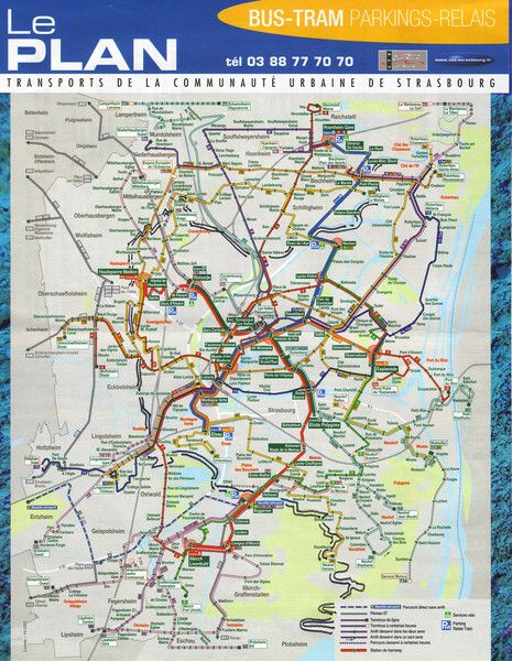Strasbourg Bus and Tram map Metro Mapas Pinterest Strasbourg