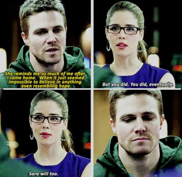 Felicity & Oliver ---- I love Felicity because she's not