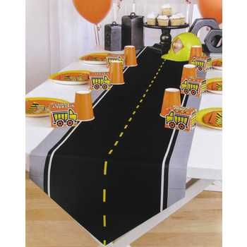 construction party table runner