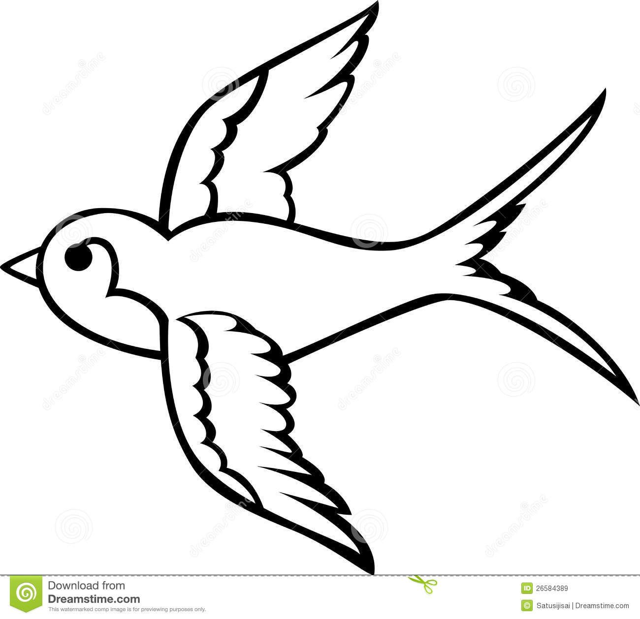 Swallow Bird Drawing Google Search Swallow Bird Tattoos Bird Outline Tattoo Bird Outline