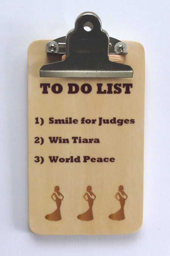 Gift for Coach To Do List Gift from Team Clipboard Wood Gift