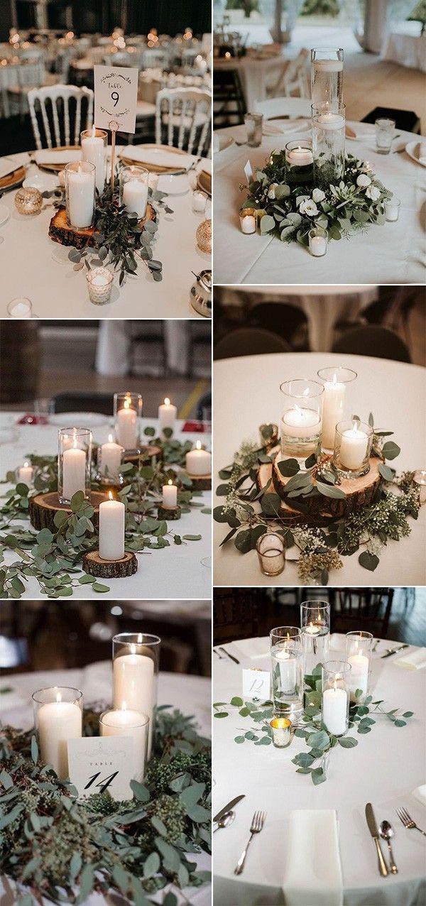 simple elegant candles wedding centerpieces on budget #wedding decorations cente…