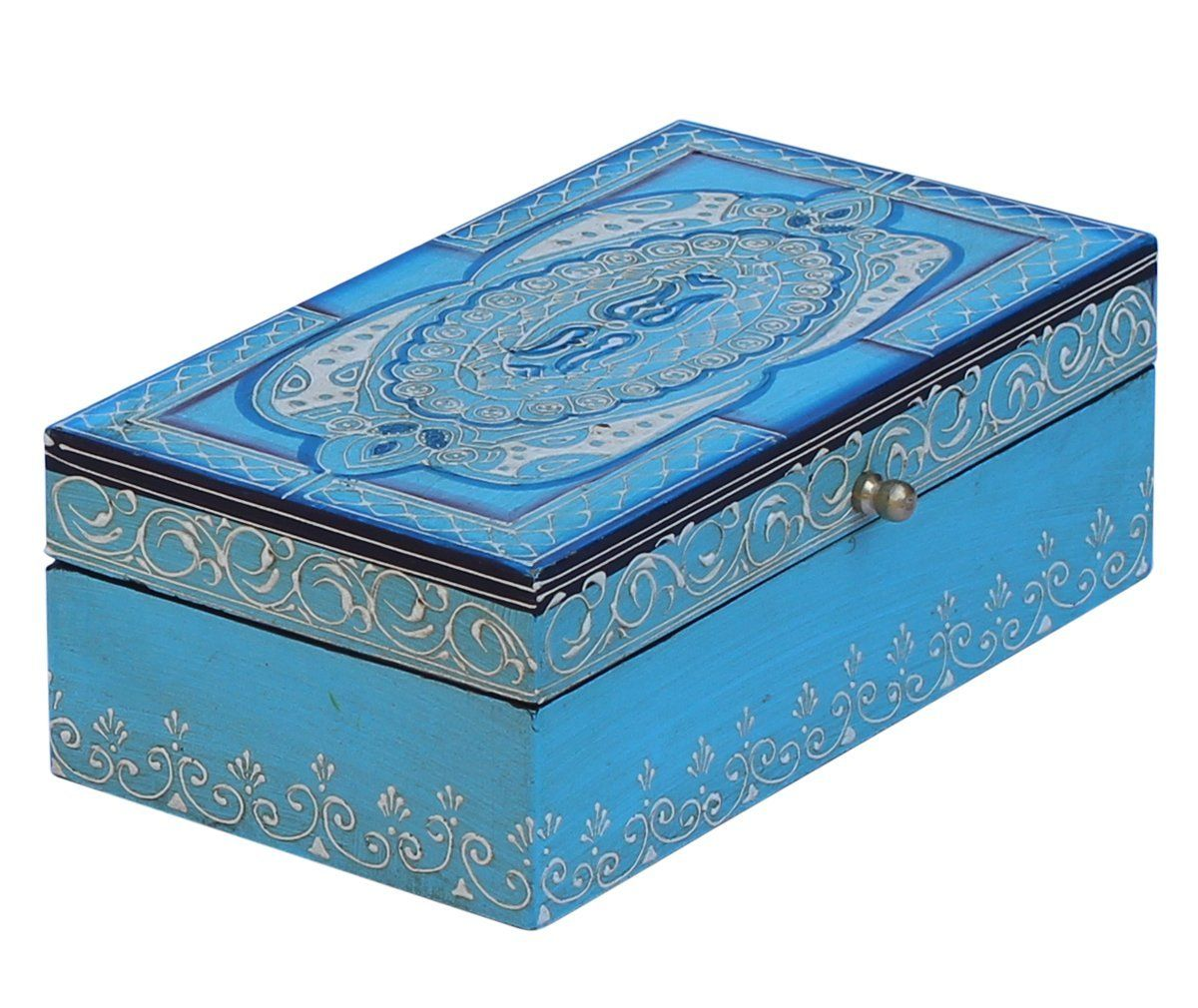 Where To Buy Decorative Boxes Turquoise Blue Decorative Box  Souvnear Jewelry Box Wooden