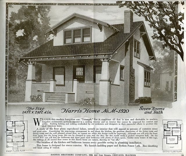1920 kit home from harris brothers in 2020 craftsman