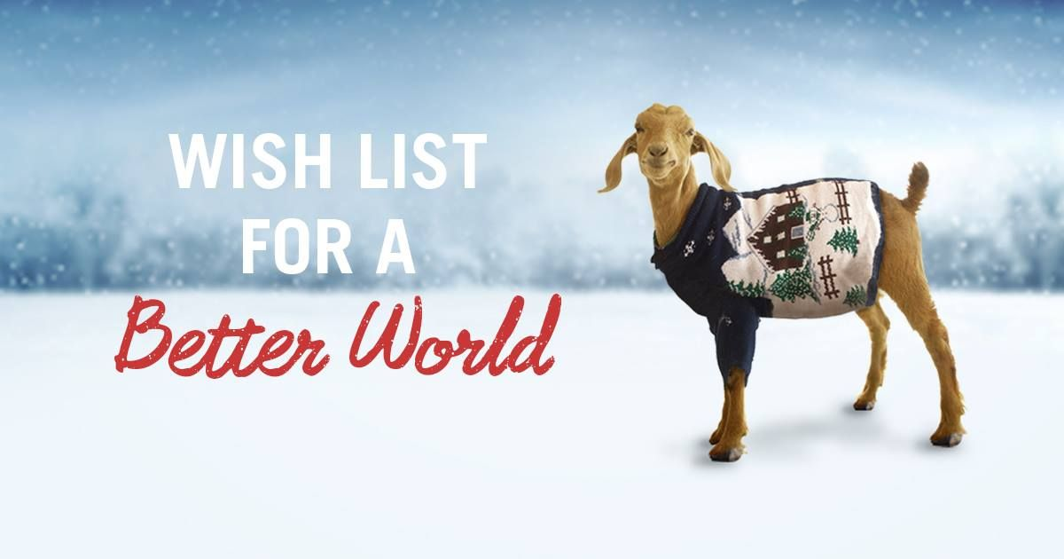 Create a Heifer Holiday Wish List Page and let people know exactly which Heifer gifts ...