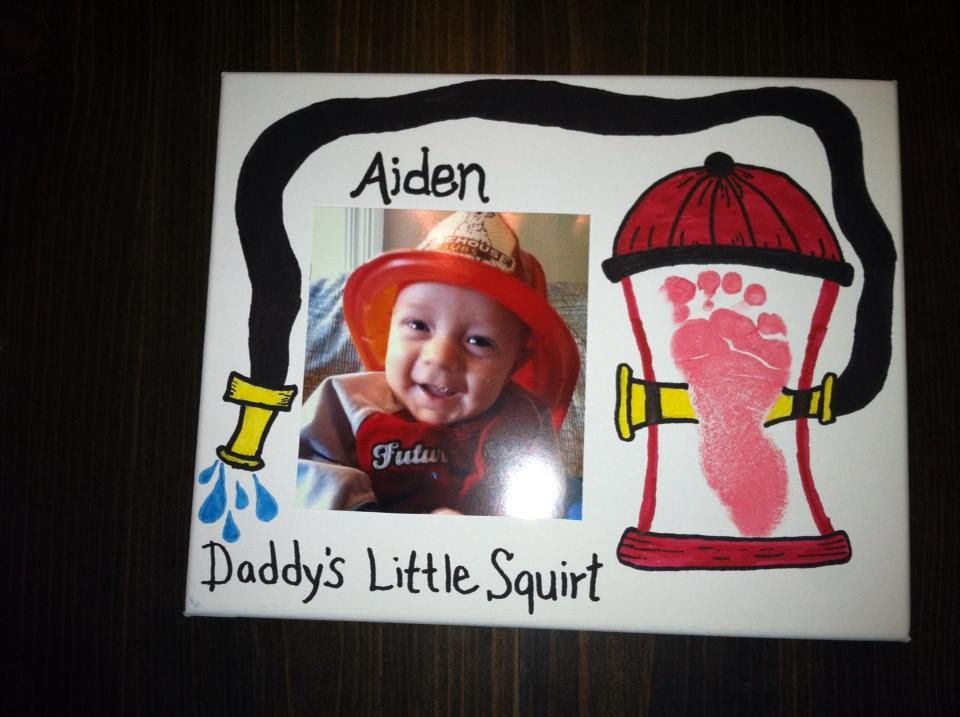fathers day for a firefighter dad. By far my favorite project I made ...