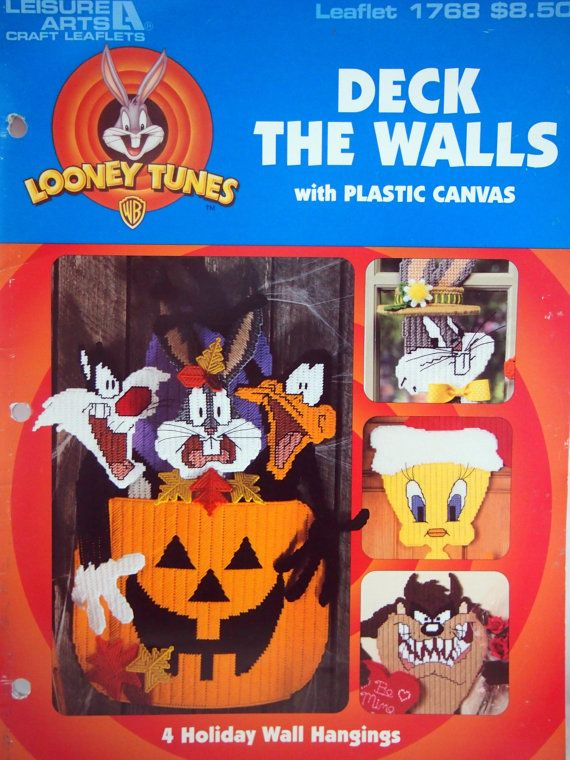 Looney Tunes Deck The Walls With Plastic Canvas by NeedANeedle, $5.75