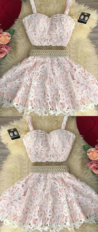 Short Prom Dresses, Cute Prom Dresses, Pink Prom Dresses, Prom Dresses Lace