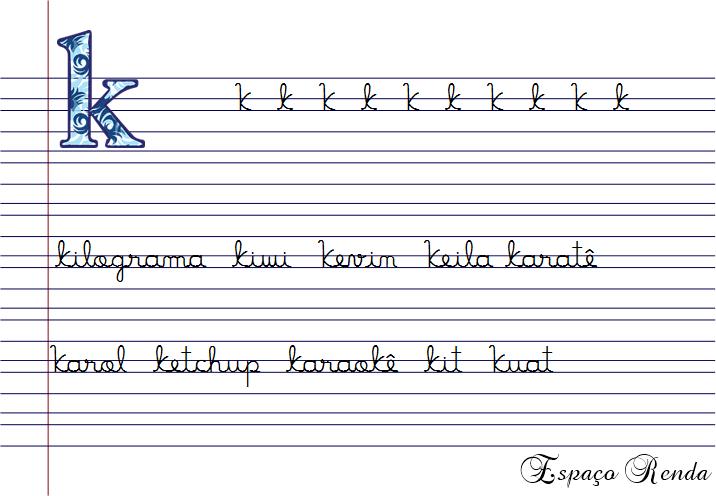 caligrafia K