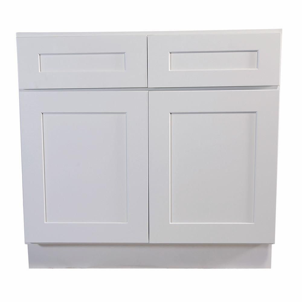 Design House Brookings Ready To Assemble 48 X 34 5 X 24 In Base Cabinet Style 2 Door With 2 Drawer In House Design Kitchen Base Cabinets Kitchen Base Cabinets