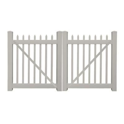 Dura Gate 10 Ft Double Fence Gate Frame Kit 007 1402 The Home Depot Vinyl Picket Fence Gate Kit Vinyl Fence