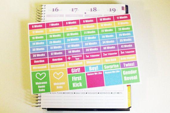58 Pregnancy Life Planner Stickers Scrapbook Stickers Reminder Stickers Pregnancy Stickers