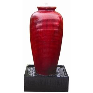 Water Magic Red Rib Amphora Water Feature Bunnings 420 Ohhh
