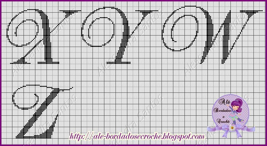 Pin de Alexandra Gratereaux Cabral en Alfabeto | Pinterest | Punto ...