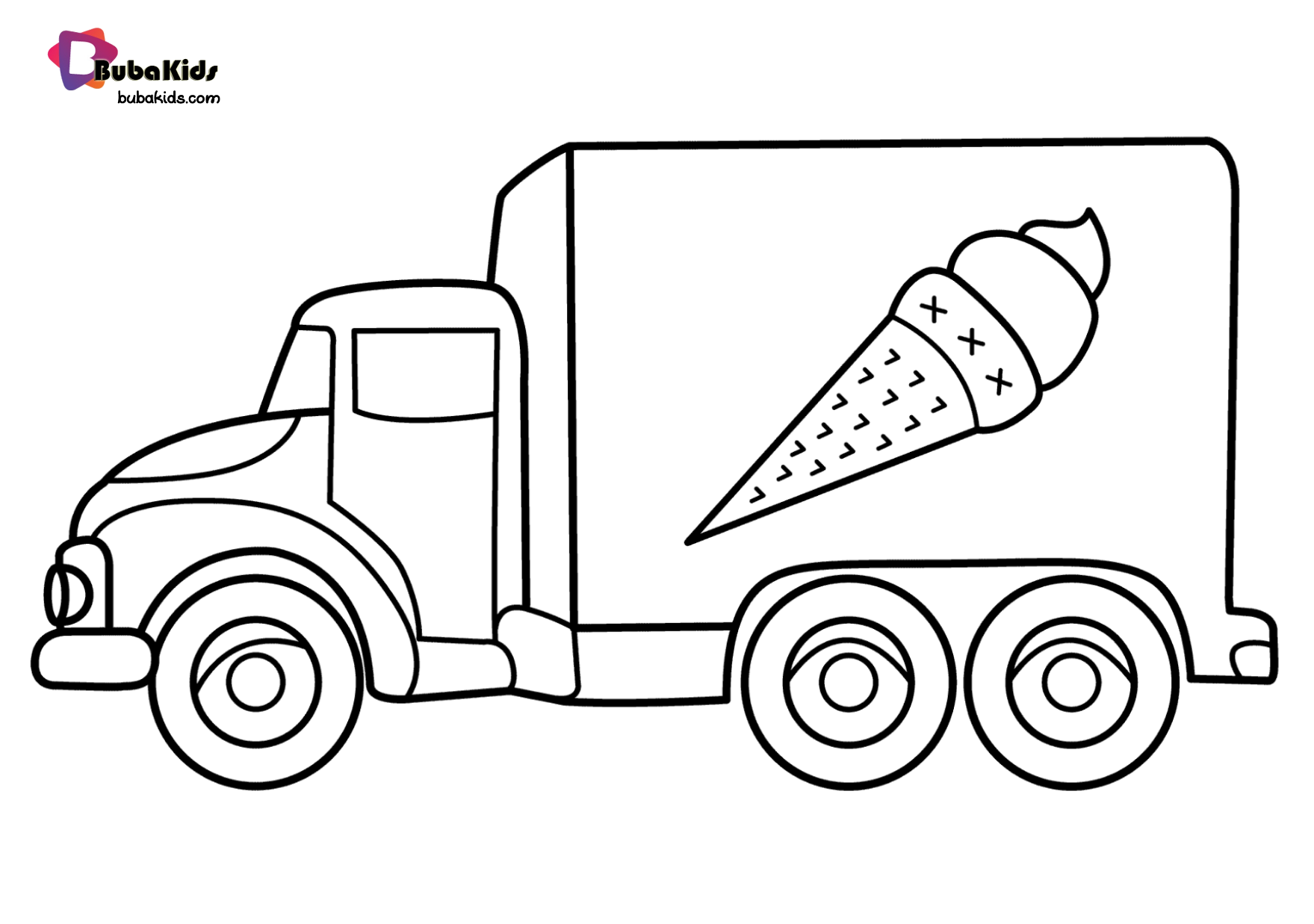 Free Download To Print Ice Cream Truck Coloring Page Collection Of Cartoon Coloring Pages For Cars Coloring Pages Coloring Pages For Kids Free Coloring Pages