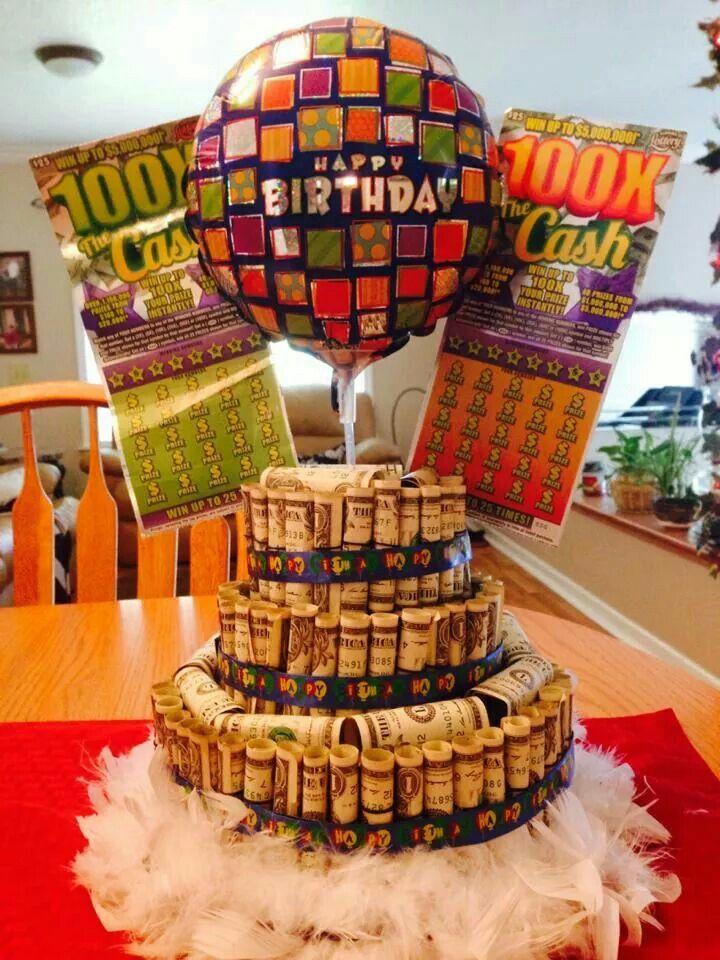 Money cake Lottery Ticket Ideas Pinterest Money cake Cake and
