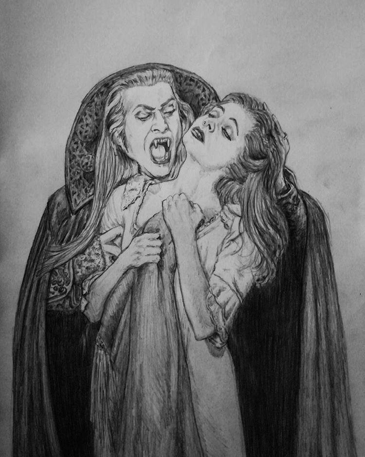 Zeichnung Von Graf Krolock Und Sarah Aus Tanz Der Vampire Tanz Der Vampire Vampire Kunst