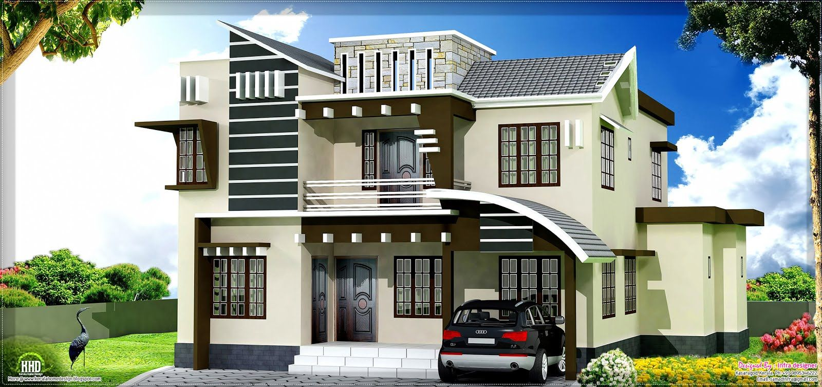 Home Design 2450 Sq.feet Home Design From Kasaragod Kerala  Kerala Home