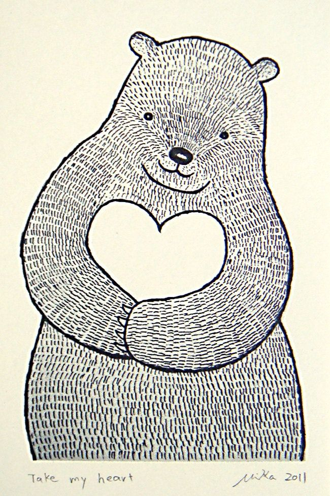 with my heart | Linocut | Pinterest | Cuadros infantiles, Cuadro y ...