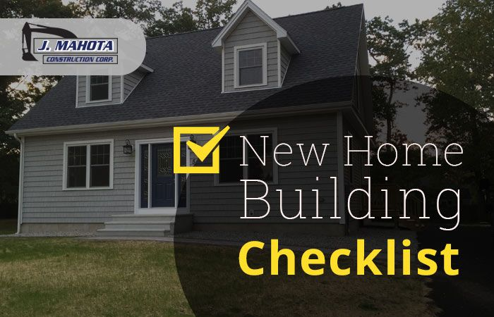 Anyone needed a new home construction process checklist which will ...