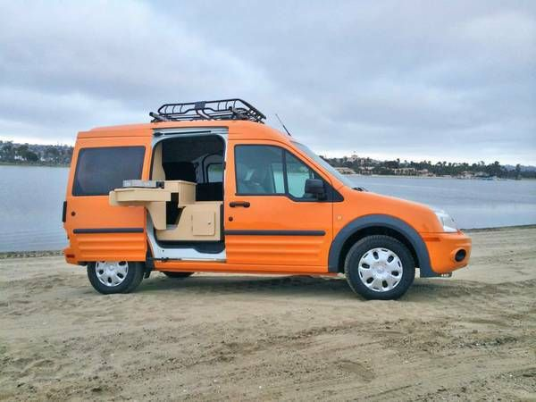 Ford Transit Connect Mini Camper Rv Great Idea Mini Camper Mini Van Ford Transit Connect Camper