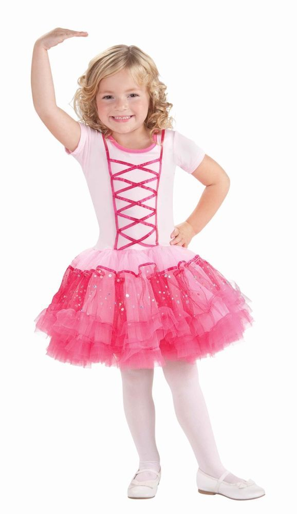 Girls Deluxe Ballerina Princess Costume Pink Fancy Dress Tutu Toddler Childs NEW #CompleteCostume  sc 1 st  Pinterest & Girls Deluxe Ballerina Princess Costume Pink Fancy Dress Tutu ...