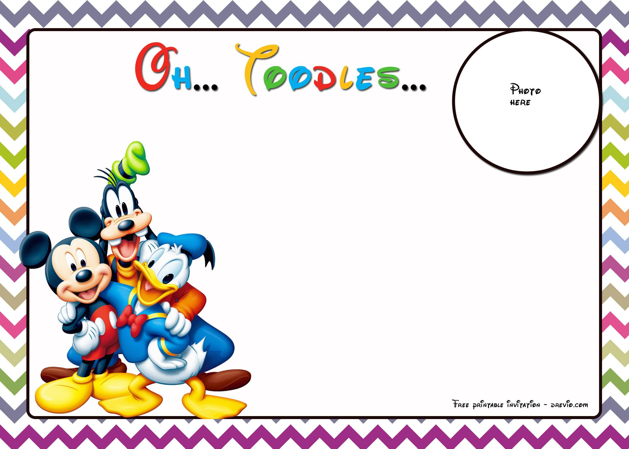 free mickey mouse birthday invitations