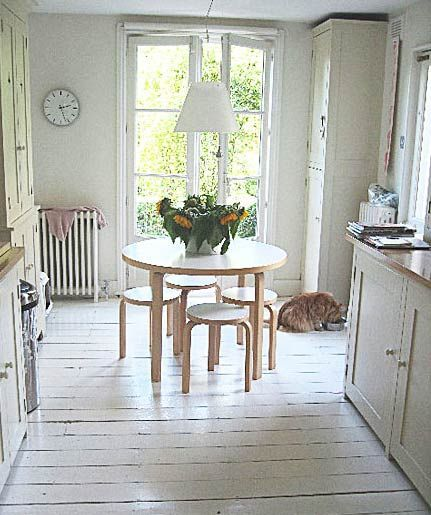 Kitchen Painted Wood Floors White Painted Floors White Wood Floors