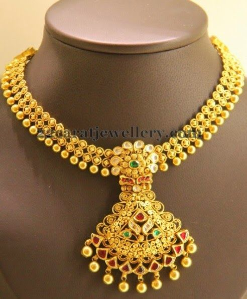 Jewellery Designs Latest Gold Set by Kirtilals Indian