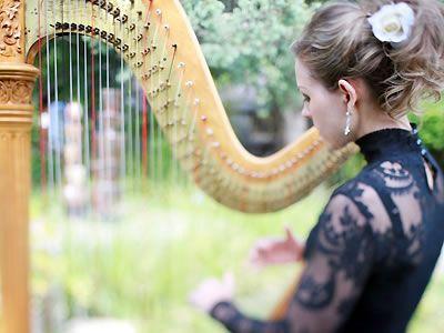 Harpist Krista Strader Wine Country Wedding Music