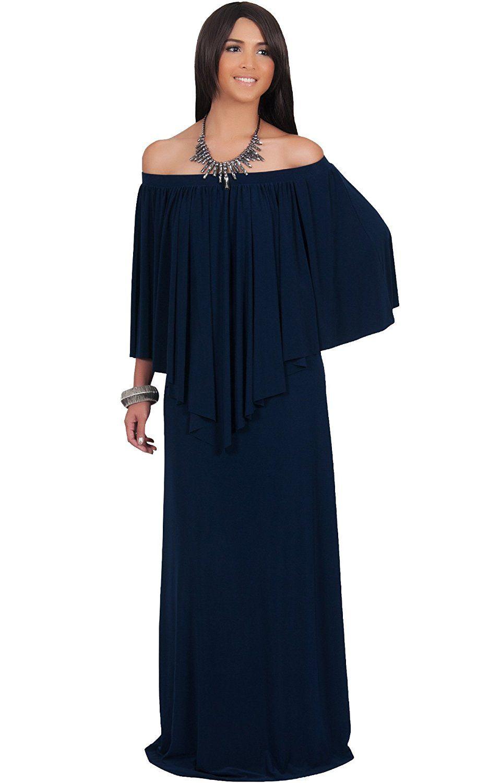 Koh koh womens long strapless shoulderless flattering cocktail gown