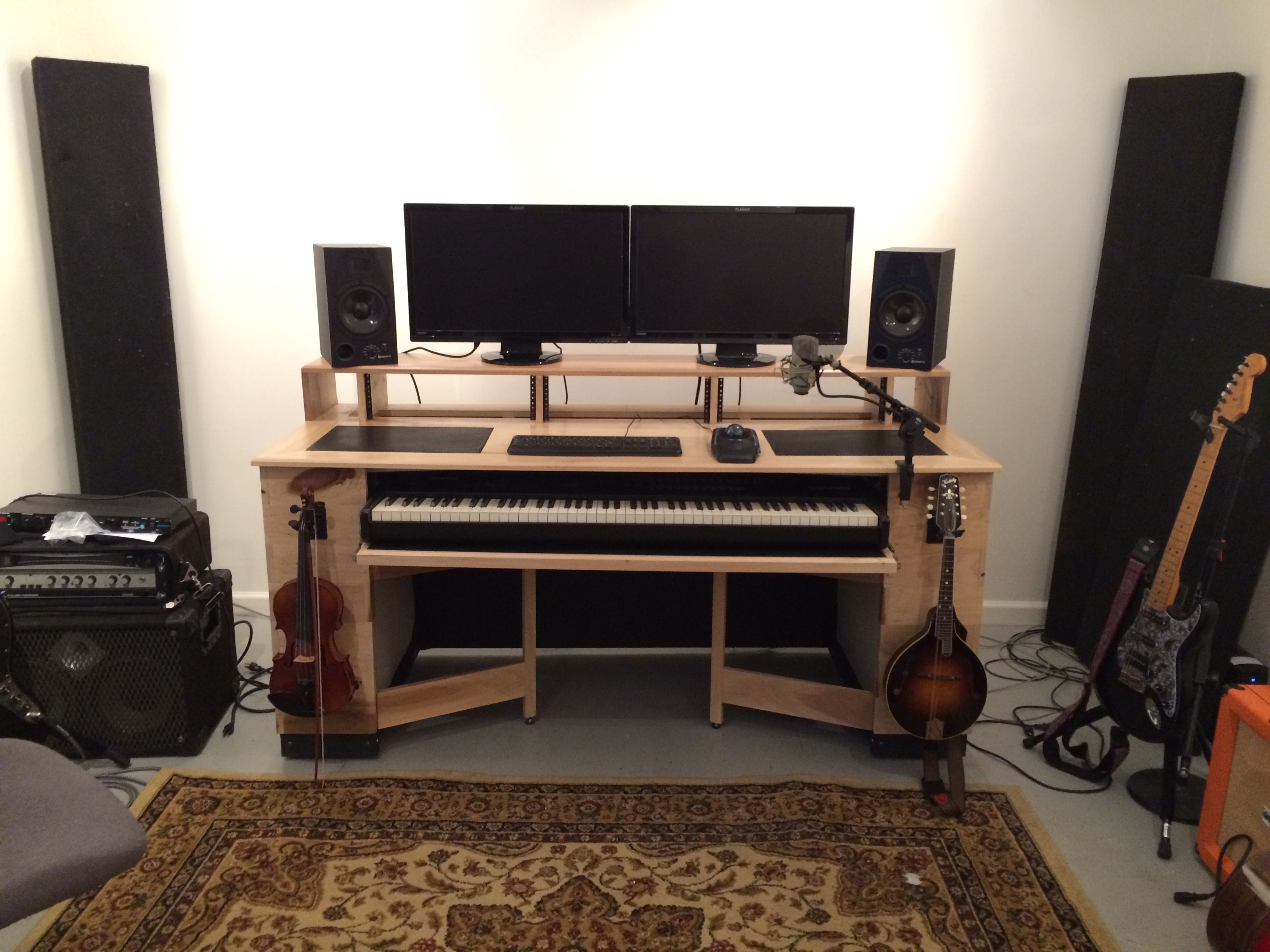 I built this diy audio mixing desk and drank lots of beer for Studio furniture