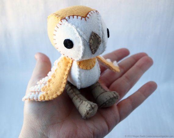 Owl Sew Tiny Stuffed Animal Diy Plush Craft Felt Crafts