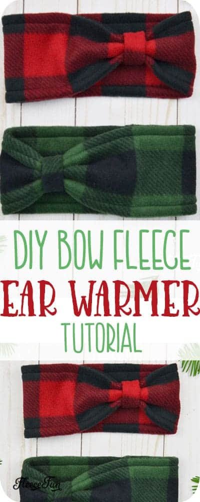Fleece Ear Warmer Headband DIY Bow Style Fleece Ear Warmer Headband DIY Bow Style Diy Abschnitt