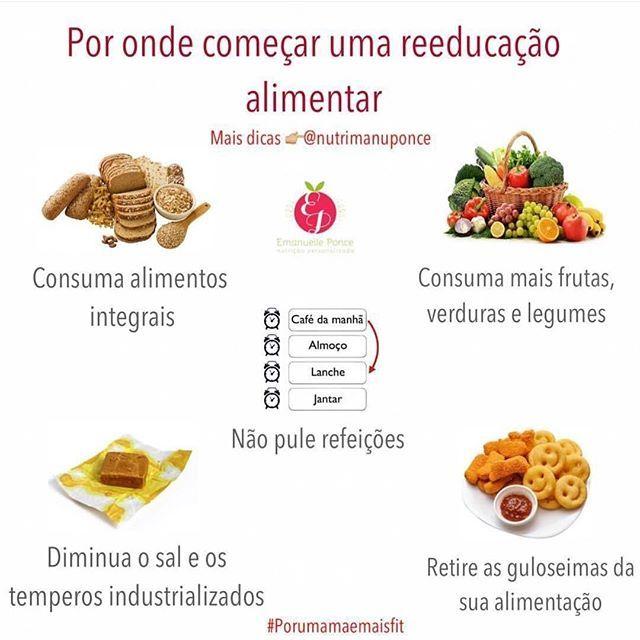 dieta reeducação alimentar perder peso cardapio