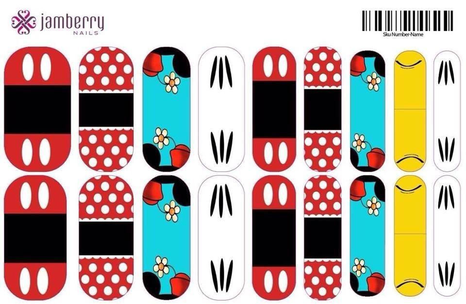 Disney Theme Nails - Jamberry Nail Art Studio (idea posted by ...