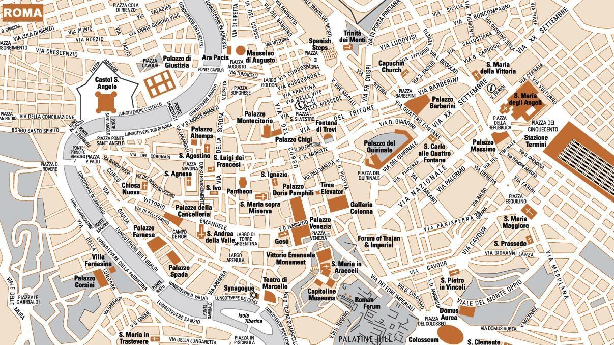 Mapa De Roma Turistico.Mapa Turistico De Roma In 2019 Rome Centre Rome Rome