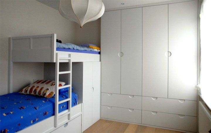 Boys Room Wardrobes And Bed Combination With 1 Pull Out Bed Underneath Childrens Bedroom Furniture Childrens Bedrooms Childrens Playroom