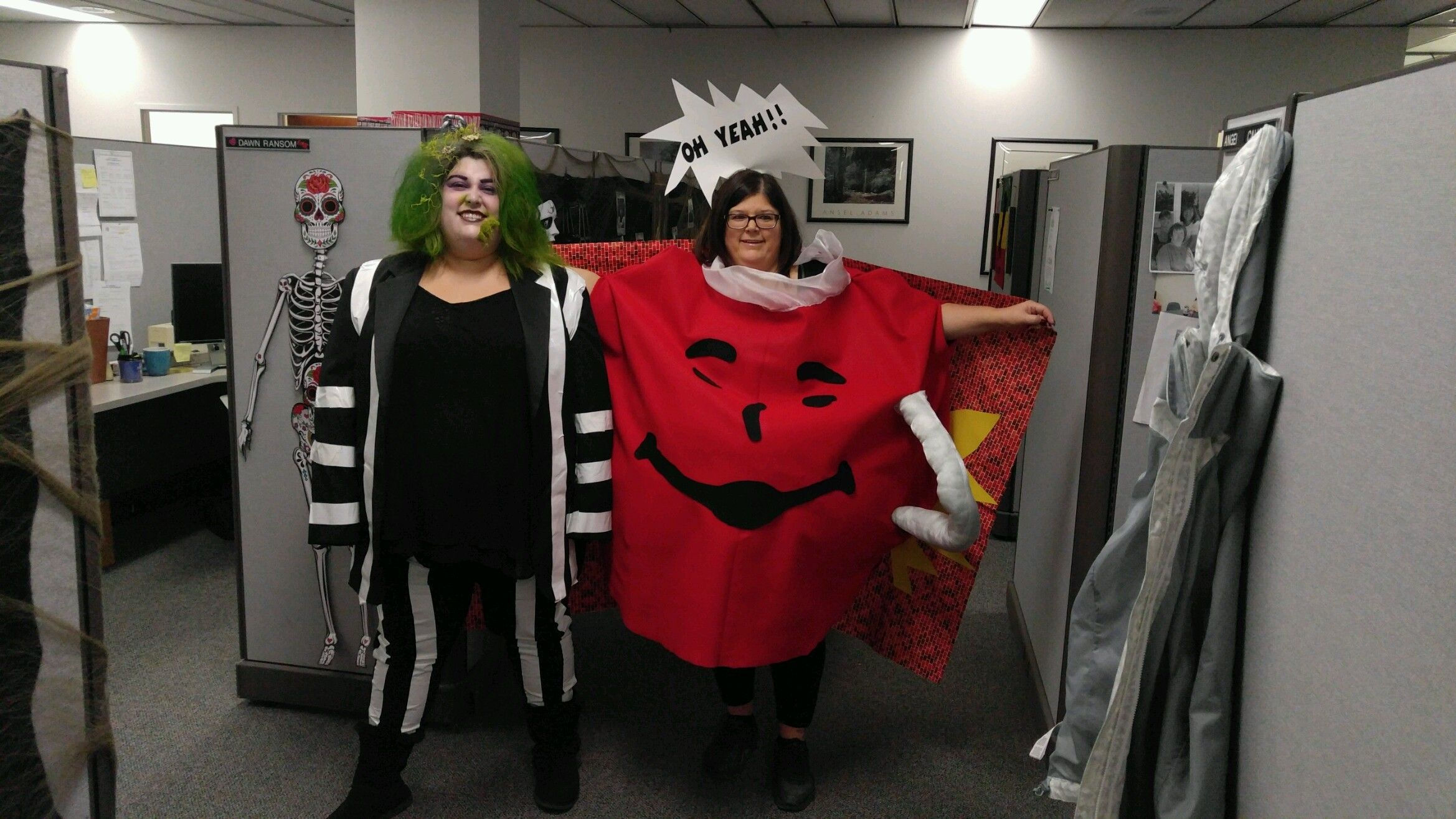 Beetlejuice And Kool Aid Man We Made These Costumes Love Them Costumes Fashion Halloween Costumes